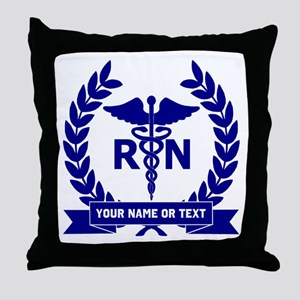 RN (Registered Nurse) Throw Pillow