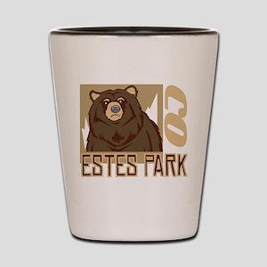 Estes Park Grumpy Grizzly Shot Glass