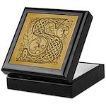 Celtic Letter S Keepsake Box