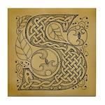 Celtic Letter S Tile Coaster