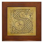 Celtic Letter S Framed Tile