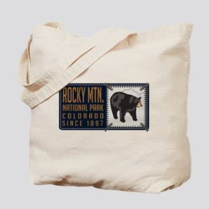 Rocky Mountain Black Bear Badge Tote Bag