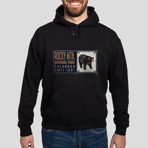 Rocky Mountain Black Bear Badge Hoodie (dark)