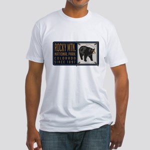 Rocky Mountain Black Bear Badge Fitted T-Shirt