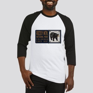 Rocky Mountain Black Bear Badge Baseball Jersey