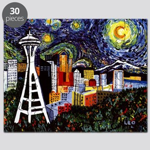 Seattle Starry Night Puzzle