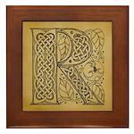 Celtic Letter R Framed Tile