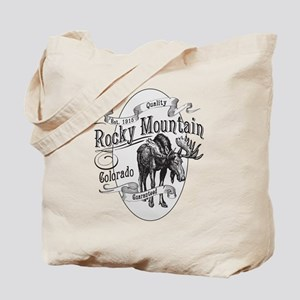 Rocky Mountain Vintage Moose Tote Bag