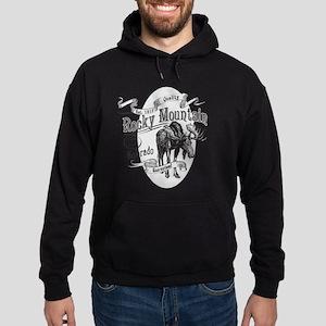 Rocky Mountain Vintage Moose Hoodie (dark)