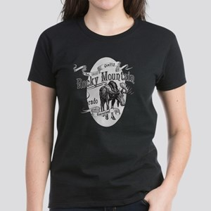 Rocky Mountain Vintage Moose Women's Dark T-Shirt