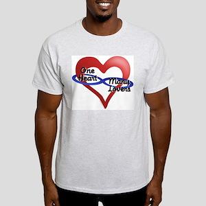 One Heart Ash Grey T-Shirt