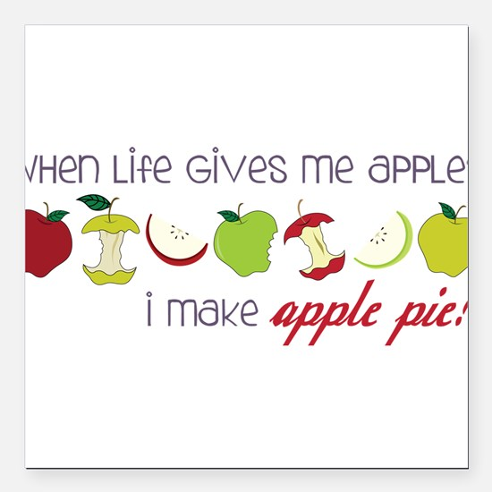 "Apple Pie Square Car Magnet 3"" x 3"""