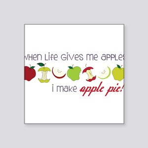 "Apple Pie Square Sticker 3"" x 3"""