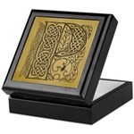 Celtic Letter P Keepsake Box