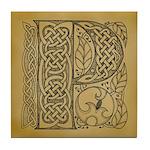 Celtic Letter P Tile Coaster