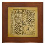 Celtic Letter P Framed Tile