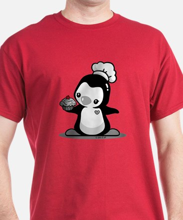 Cooking Penguin (b&w) T-Shirt