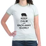 Keep Calm and Back Away Slowly Jr. Ringer T-Shirt