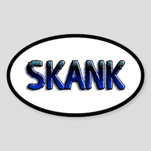 Skank Oval Sticker