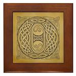 Celtic Letter O Framed Tile