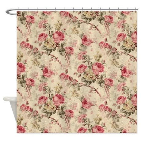 60th Anniversary Gifts >> Vintage Flowers Shower Curtain by cheriverymery