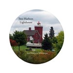 Two Harbors Lighthouse & Boat Button