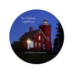 Two Harbors Lighthouse Dusk Button