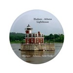 Hudson Athens Lighthouse Button