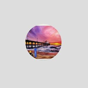 Manhattan Beach Pier Mini Button