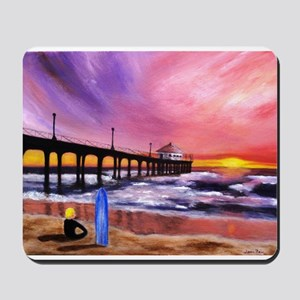 Manhattan Beach Pier Mousepad