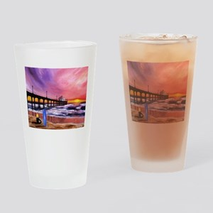 Manhattan Beach Pier Drinking Glass