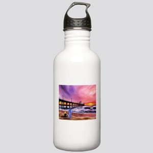 Manhattan Beach Pier Stainless Water Bottle 1.0L