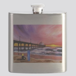 Manhattan Beach Pier Flask