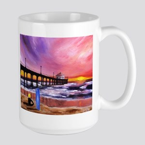 Manhattan Beach Pier Large Mug