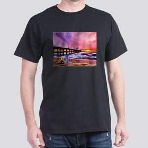 Manhattan Beach Pier Dark T-Shirt