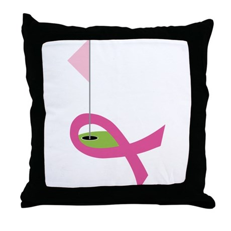 Golf For A Cure Throw Pillow