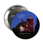 "Two Harbors Lighthouse Dusk 2.25"" Button"