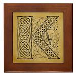 Celtic Letter K Framed Tile