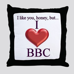 I Love BBC Throw Pillow