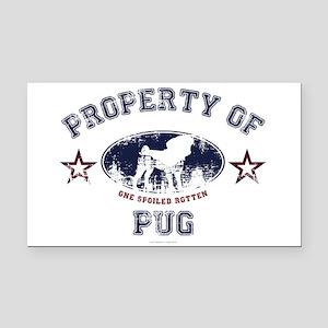 Property Of Pug Rectangle Car Magnet