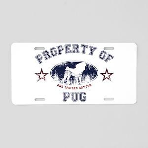 Property Of Pug Aluminum License Plate