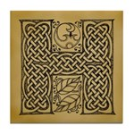 Celtic Letter H Tile Coaster