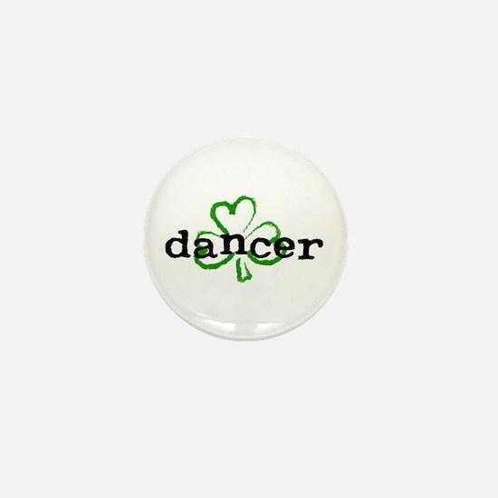 Irish Dancer Shamrock Mini Button