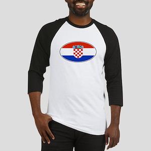 Croatian Oval Flag Baseball Jersey
