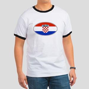 Croatian Oval Flag Ringer T