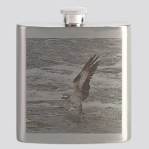 Osprey with fish Flask