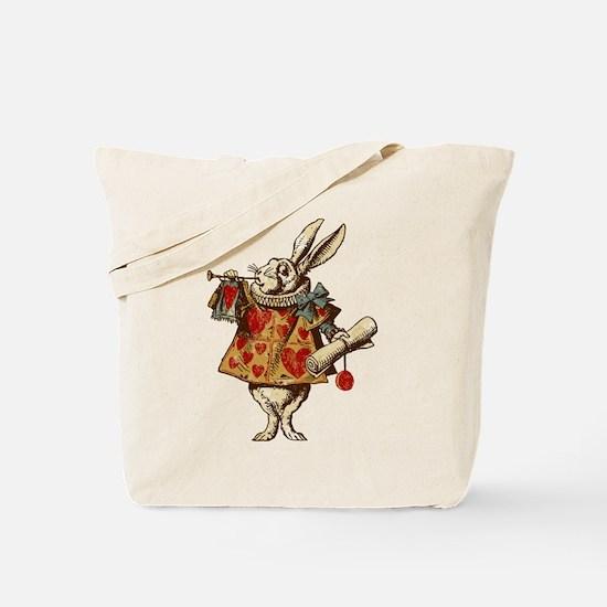 Alice White Rabbit Vintage Tote Bag