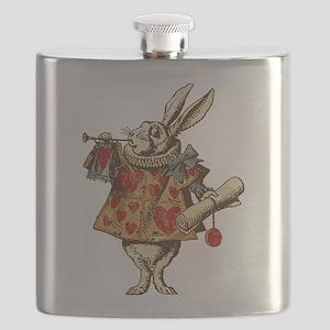 Alice White Rabbit Vintage Flask