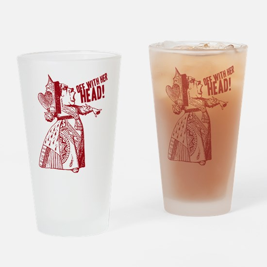 Red Queen Off With Her Head Drinking Glass
