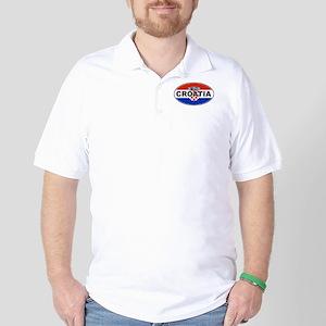 Croatian Oval Flag Golf Shirt